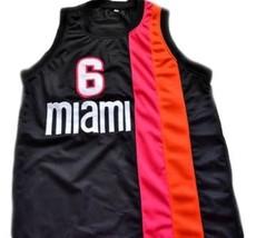 Lebron James #6 Miami Floridians Basketball Custom Jersey Sewn Black Any Size image 1