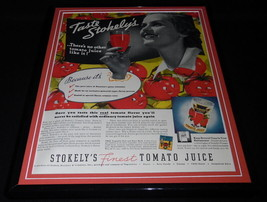 1937 Stokely's Tomato Juice Framed 11x14 ORIGINAL Vintage Advertisement - $55.74