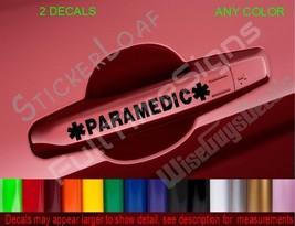 Paramedic Star Of Life Ems Door Handle Decals Stickers Medic Firemedic Emt Emtp - $6.99