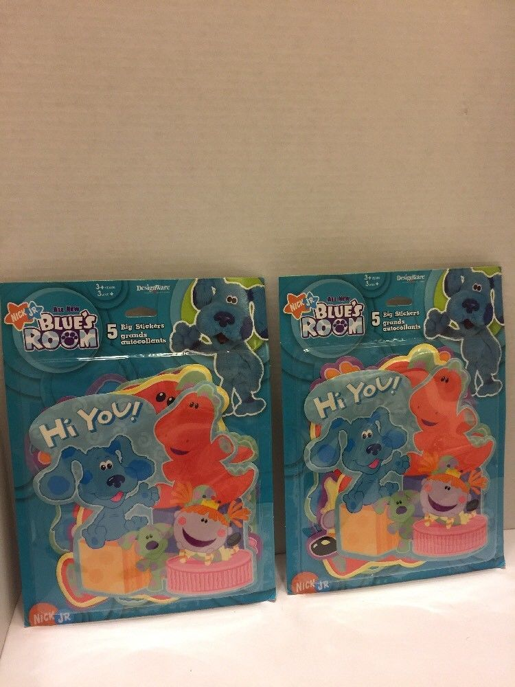 "Primary image for 2 Packs Nick Jr Blue Room Stickers 5 big ""Hi You"" Play Learn 2005 Viacom"