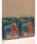 "2 Packs Nick Jr Blue Room Stickers 5 big ""Hi You"" Play Learn 2005 Viacom - $8.59"