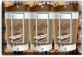 COFFEE TIME PAPER CUP LIGHT SWITCH OUTLET PLATE ROOM KITCHEN CAFE SHOP ART DECOR image 11
