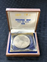 1974 Singapore $10 Dollar Proof with Original Case Lot#B812 Silver! - $42.08