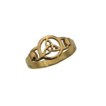 Celtic Triquetra Trinity Trio Knot Genuine 10K GOLD Ring Jewelry pick yo... - $173.55+