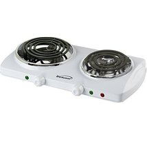 Brentwood Electric 1500W Double Burner Spiral White consumer electronics - €32,76 EUR