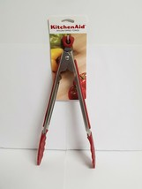 KITCHENAID EMPIRE RED NYLON TIPPED TONGS - $13.99