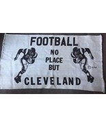 Vintage Browns FootBall No Place But Cleveland Woven Rug Welcome Mat NFL... - $43.63
