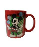 "Disney Christmas Mickey Mouse Zak Designs Coffee Mug ""Happiness to One &... - $9.25"