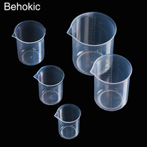Behokic 5 PCS Transparent Measuring Cup with Accurate - $15.95