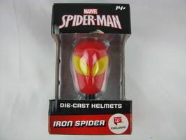 MARVEL SPIDER MAN IRON SPIDER DIE CAST HELMET  *NEW* - $14.03
