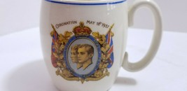 1937 KING GEORGE VII & QUEEN ELIZABETH CORONATION MUG No Mark Pottery ERROR - $10.13