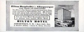 Hilton Hotel Albuquerque New Mexico Rooms w Tub Shower 1956 Travel Touri... - $10.99