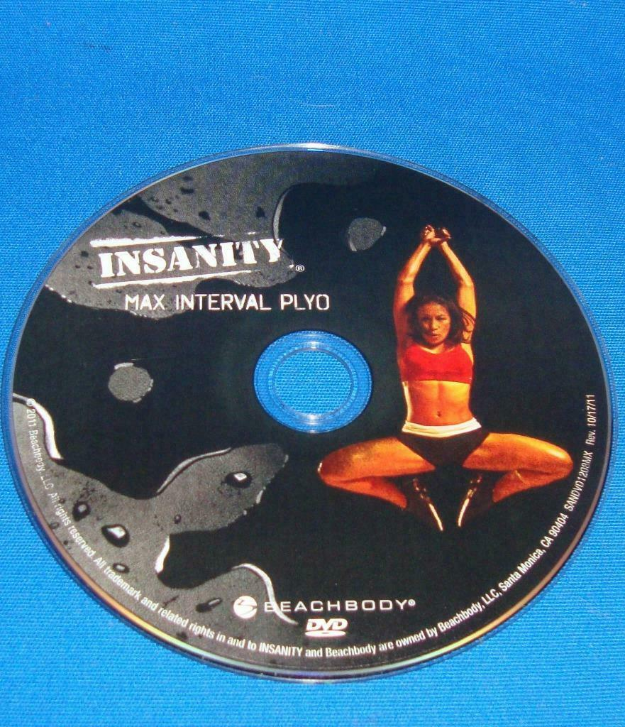 BEACHBODY INSANITY MAX INTERVAL PLYO  REPLACEMENT DISC DVD