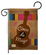 Celebrate Guitarron Cinco De Mayo Burlap - Impressions Decorative Garden... - $22.97