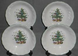 Set (4) Nikko HAPPY HOLIDAYS PATTERN Soup/Cereal Bowls HOLIDAY - CHRISTMAS - $59.39