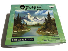 Bob Ross Mountain Reflections 550 Piece Puzzle NEW SEALED 2006 - $39.59