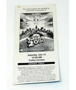 Extremely Rare Pokemon The Movie 2000 WB Preview Screening Theater Ticket - $69.99