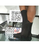 Used Mens Sheer Socks Black John Weitz Non Glossy Wide Rib Mid-Calf 10-1... - $5.00