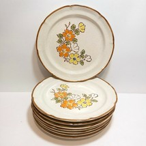 Vintage Baroque Hearthside Stoneware Spring Garden Salad/Dessert Plates ... - $42.04