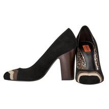 Missoni Women's Black & Brown Heels Shoes - Suede Chevron Upper - £47.23 GBP