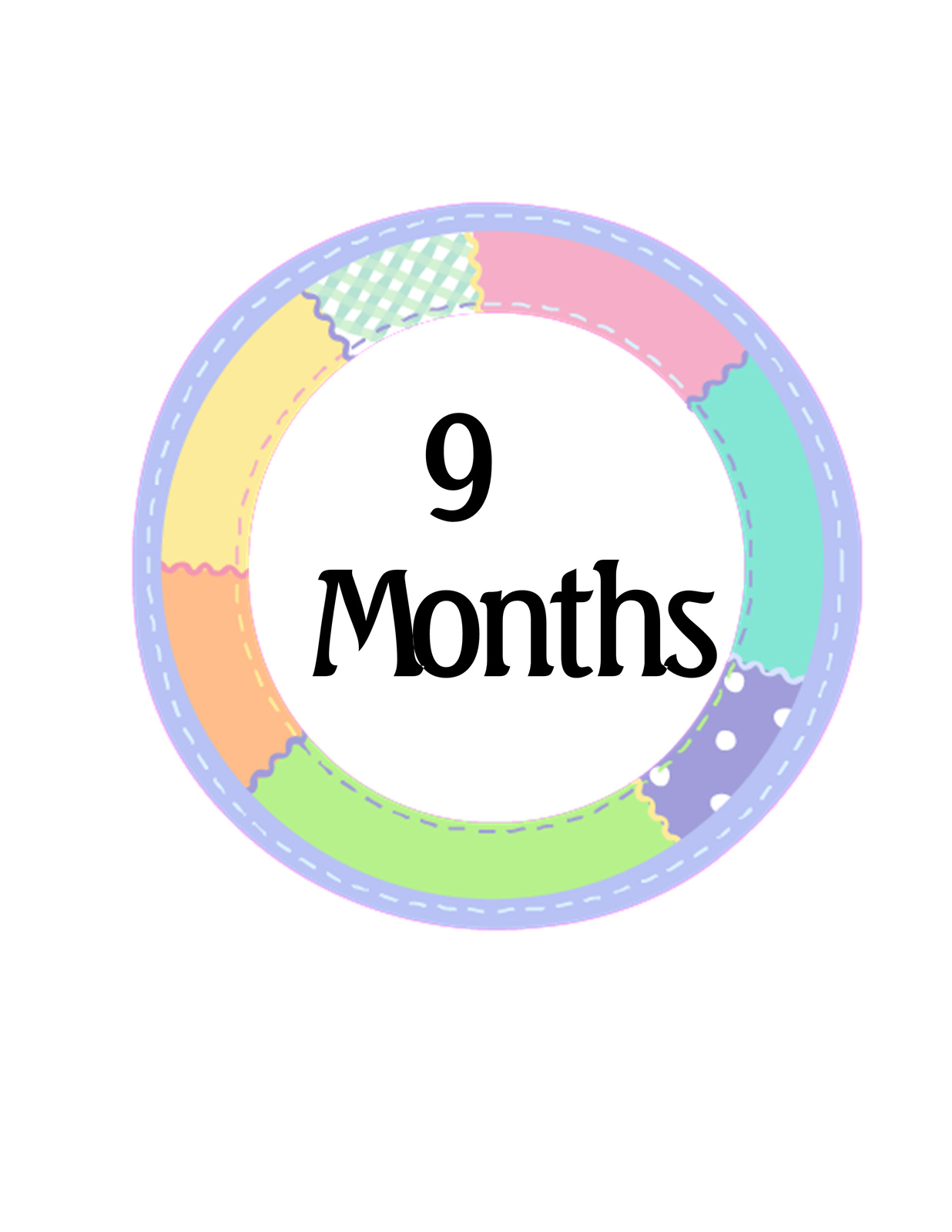 1 to 12 Months M2-Digital Cliparts-Baby Milestone-Banner-Planner-Baby Shower