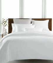 Hotel Collection Yarn Dyed 525 TC Cotton FULL/QUEEN Duvet Cover White - $76.00