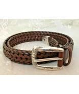 "Women's Braided Leather Western Wear Belt Fits Up To 34"" Waist - $20.66"