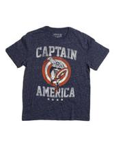 Marvel Men Size M Blue Comic Book Captain America T Shirt Speckled - $12.86