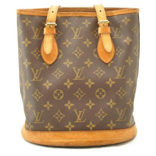 LOUIS VUITTON Monogram Bucket PM Shoulder Bag M42238 LV Auth 11122 **Sticky image 3