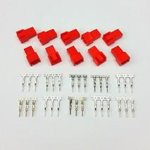 10er Packung - Stecker 3 Pin Lüfter Stromanschluss - rot mit Pins - $6.35