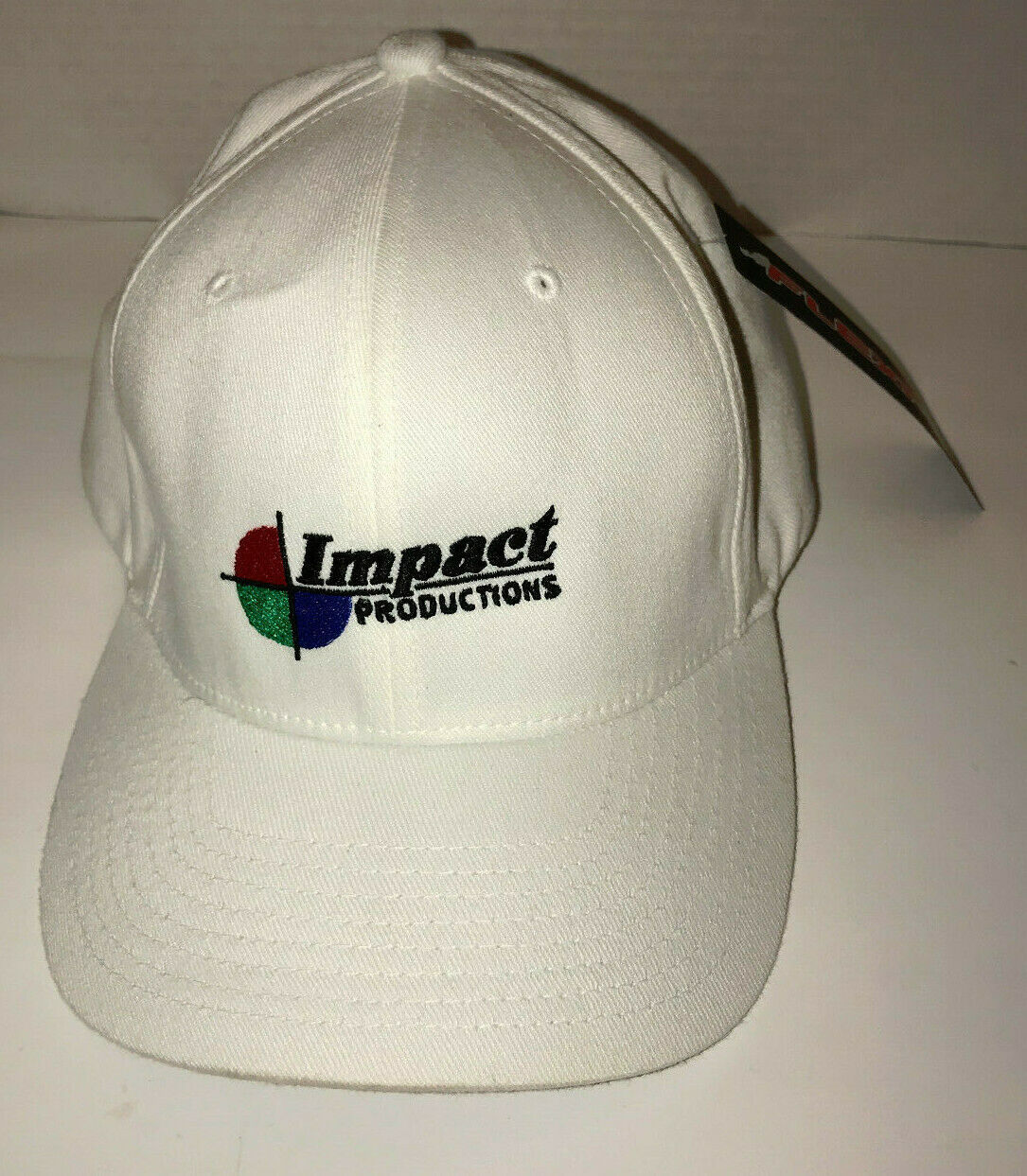 Primary image for Impact Productions White Flex Fit Hat NWT L-XL Polyester