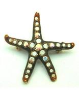 Signed Jay Strongwater Starfish Pin Sea Shell Rhinestone Crystal Pendant... - $40.34