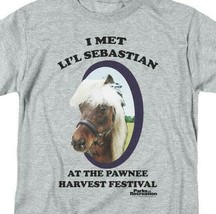 I met Lil Sebastian T-shirt Parks and Recreation comedy TV graphic tee NBC481 image 2