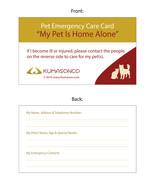 Pet Emergency Cards - CatDog (Pack of 2) - $4.50