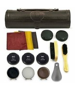 12PC Shoe Polish & Care Kit, Leather Shoe Shine Kit with Brown Wax, Shoe... - $89.09