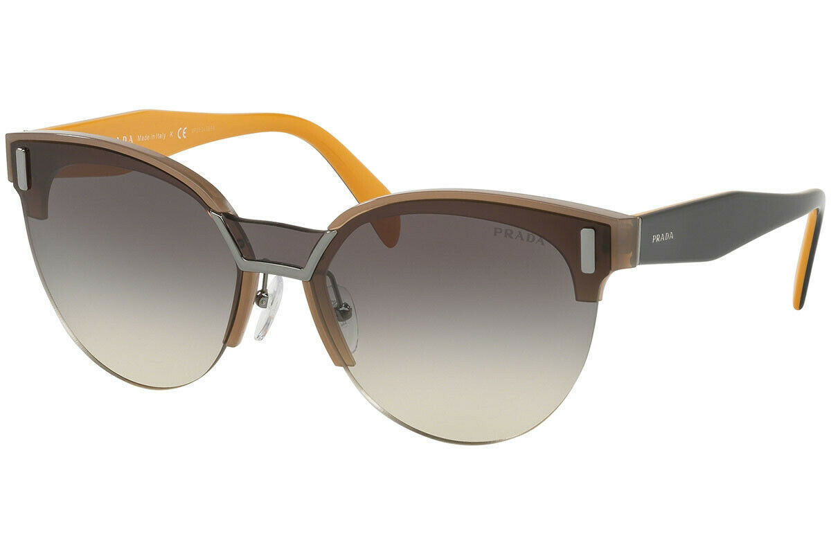 NEW PRADA Cat Eye Sunglasses PR 04US 284130 Opal Brown/Grey Gradient 43mm
