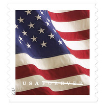 USPS U.S. Flag Forever Stamps Booklet of 20 stamps - $13.09