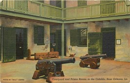 Linen Postcard LA I272 Courtyard Prison Rooms the Cabildo New Orleans Cu... - $5.25