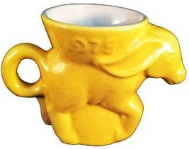 Frankoma Pottery 1975 Democrat Political Donkey Mug, Yellow - $27.72
