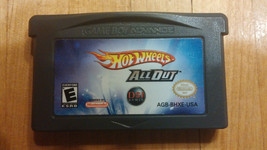 Hot Wheels All Out game for Nintendo Game boy Advance - $5.23