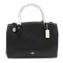Coach Womens Pebbled Leather  Brooklyn 34 Carryall 57276 BLK - $369.00