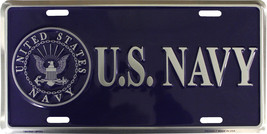 Navy License Plate (blue) - $11.94