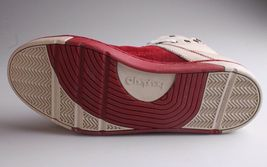 Heyday Mens Shift Classic Cream Cherry Red Leather Shoes Fashion Sneakers NIB image 7