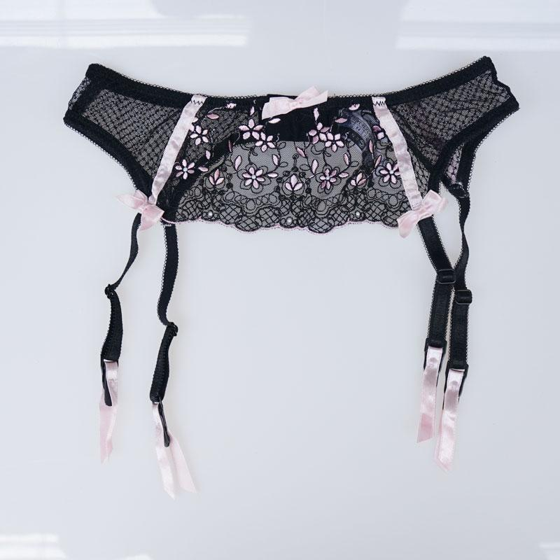 Primary image for Sexy Garters Female Bow Embroidery Floral Beading Sexy Garter Belts for Stocking