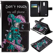 XYX Wallet Phone Case for LG K10 2018,[One-Eyed mice][Wrist Strap][Kicks... - $4.94