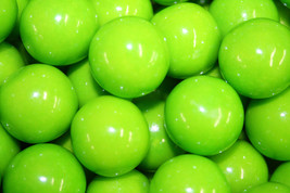 Gumballs Green Apple Bubble Gum 25mm Or 1 Inch (57 Count), 1LB - $13.70