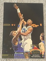 1992-93 Topps Stadium Club NBA Alonzo Mourning #297 Hornets Rookie Card ... - $1.94