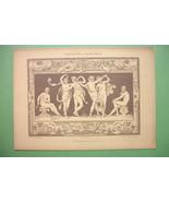 ART NOUVEAU Dekorative Vorbilder Print  - Nude Dancing Muses - $16.20