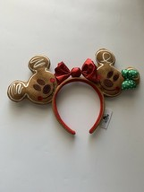 Disney Mickey and Minnie Gingerbread Ears Headband Authentic - $109.38