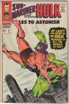 Tales To Astonish Comic Book #87 Marvel Comics 1967 FINE - $17.34